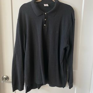 XL Gray Brooks Brothers Performance Polo Shirt